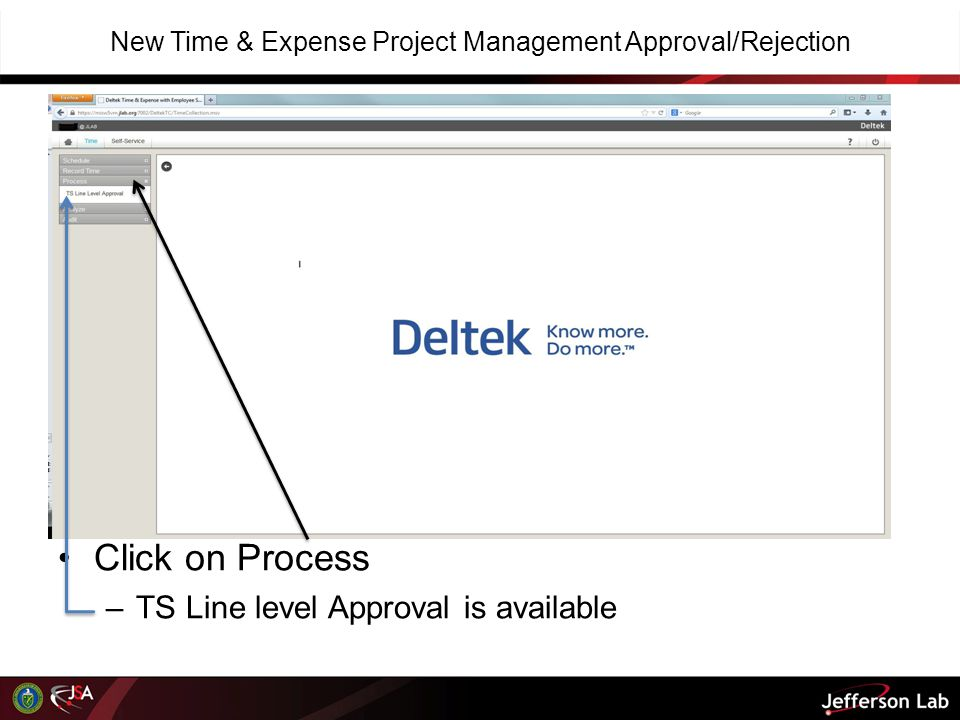 New Time & Expense Project Management Approval/Rejection