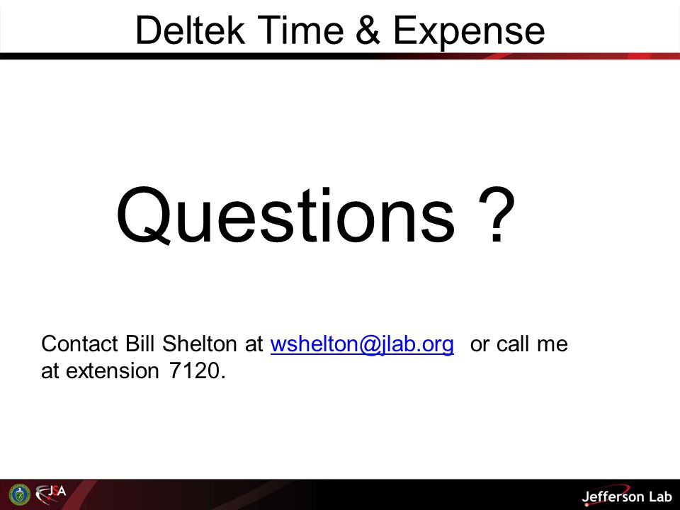 Questions Deltek Time & Expense