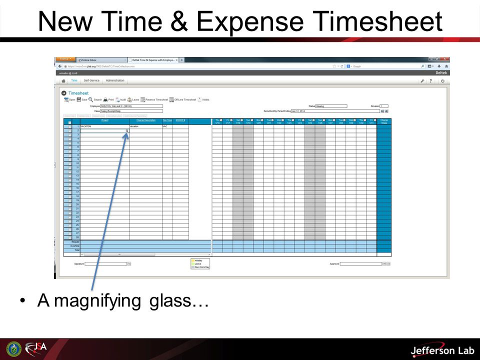 New Time & Expense Timesheet