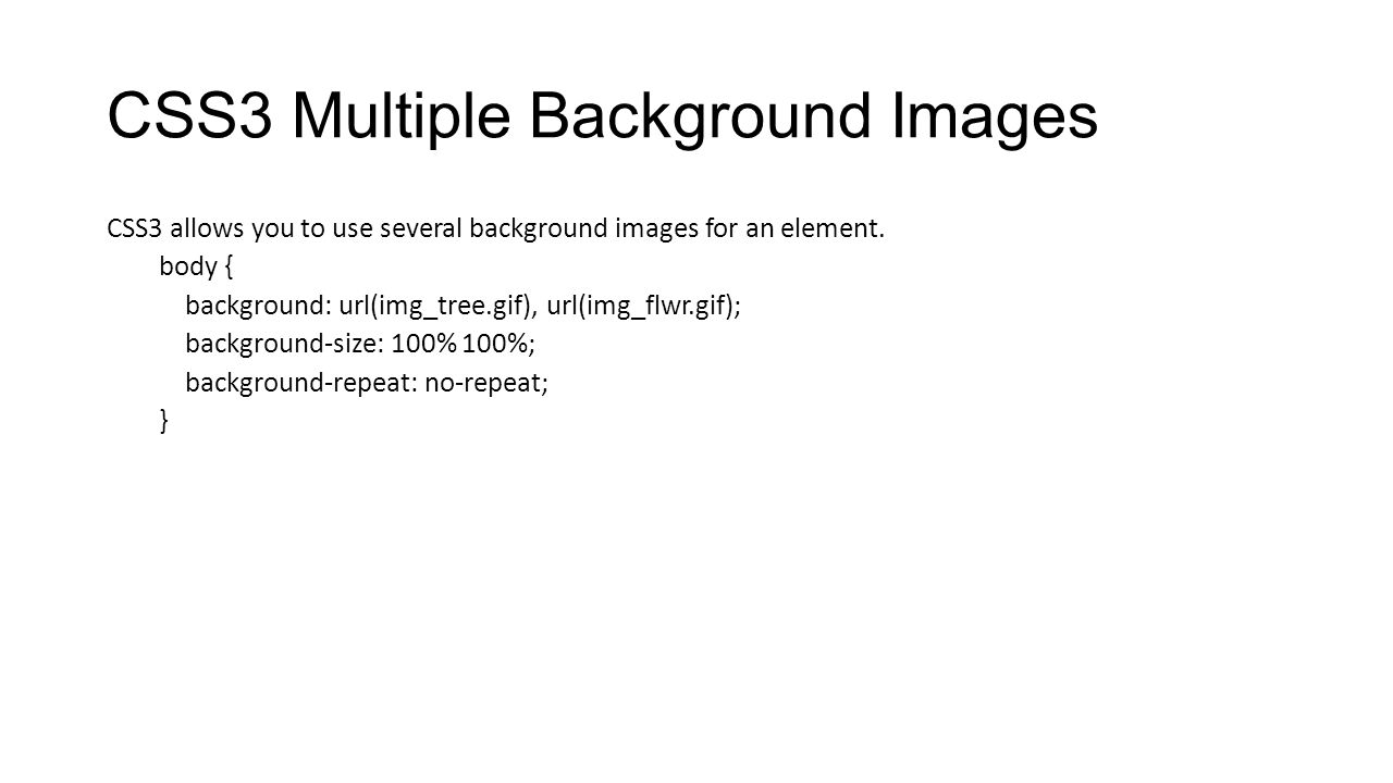 CSS3 Multiple Background Images