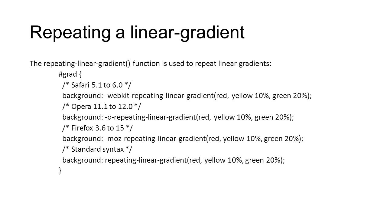 Repeating a linear-gradient