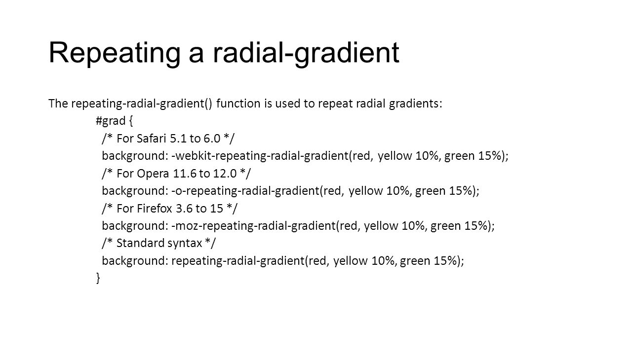 Repeating a radial-gradient