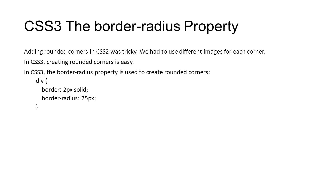 CSS3 The border-radius Property