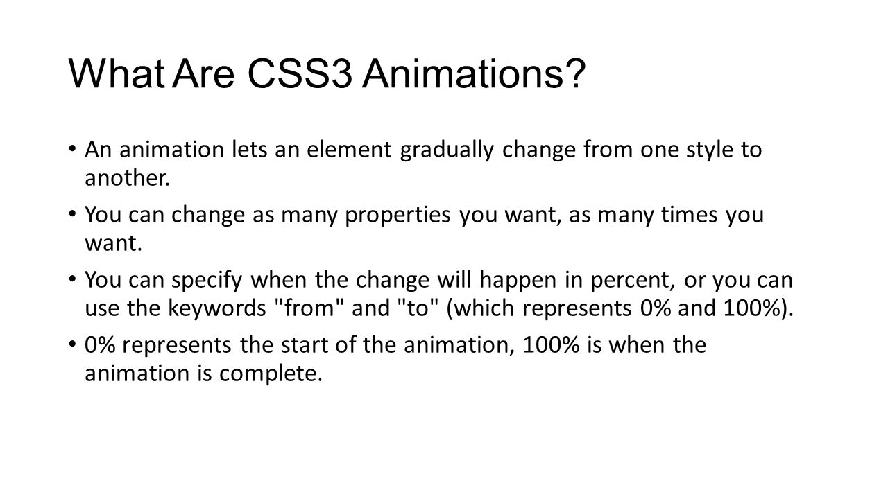 What Are CSS3 Animations