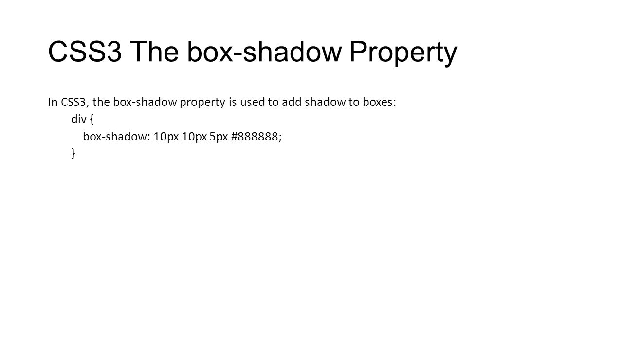 CSS3 The box-shadow Property