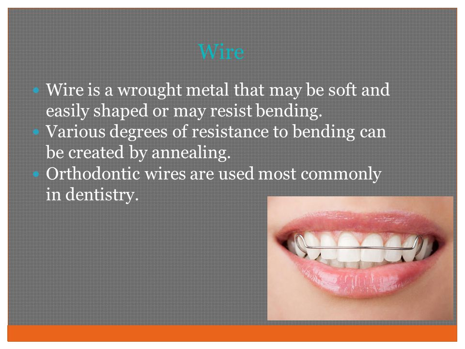Wire Wire is a wrought metal that may be soft and easily shaped or may resist bending.