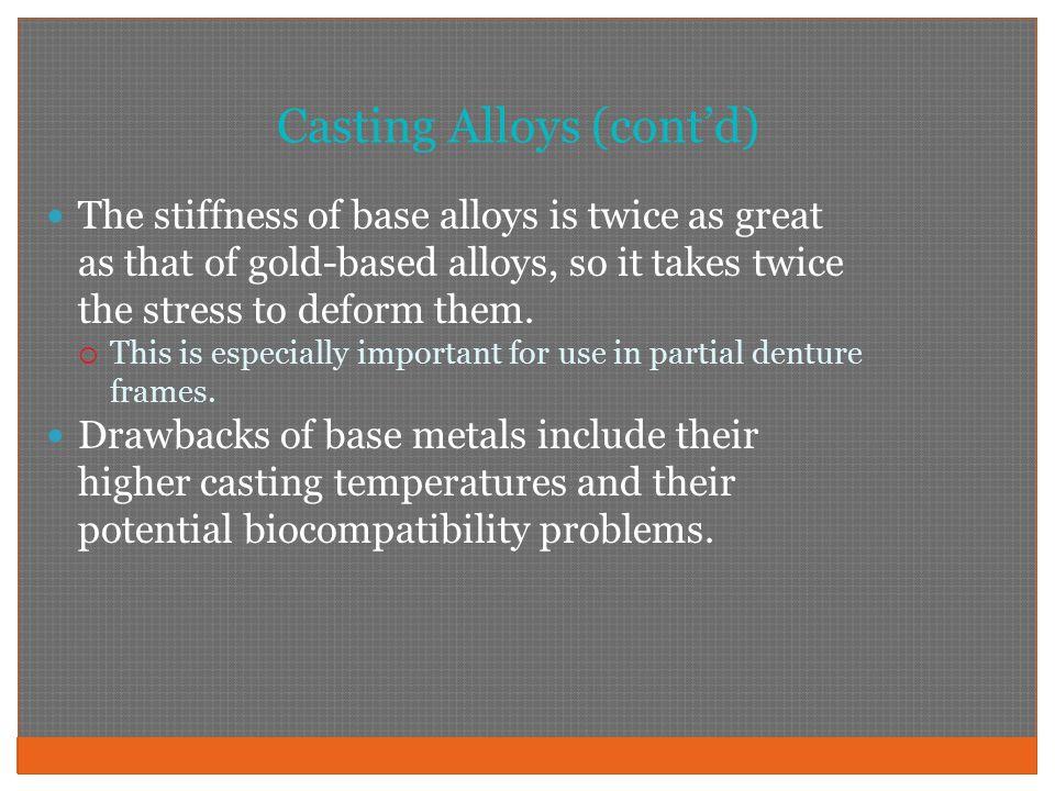 Casting Alloys (cont'd)