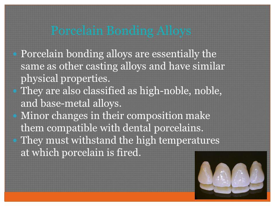 Porcelain Bonding Alloys