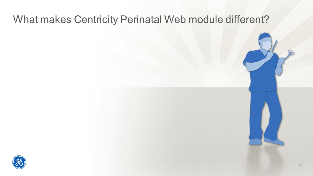 What makes Centricity Perinatal Web module different