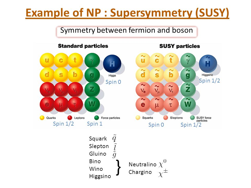 Example of NP : Supersymmetry (SUSY)