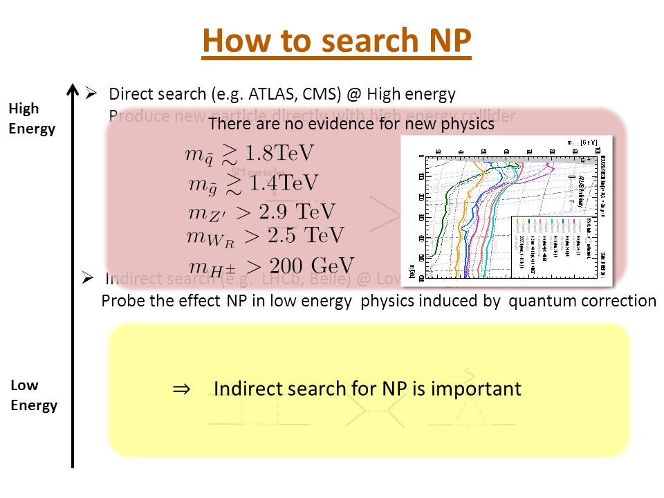 How to search NP ⇒ Indirect search for NP is important