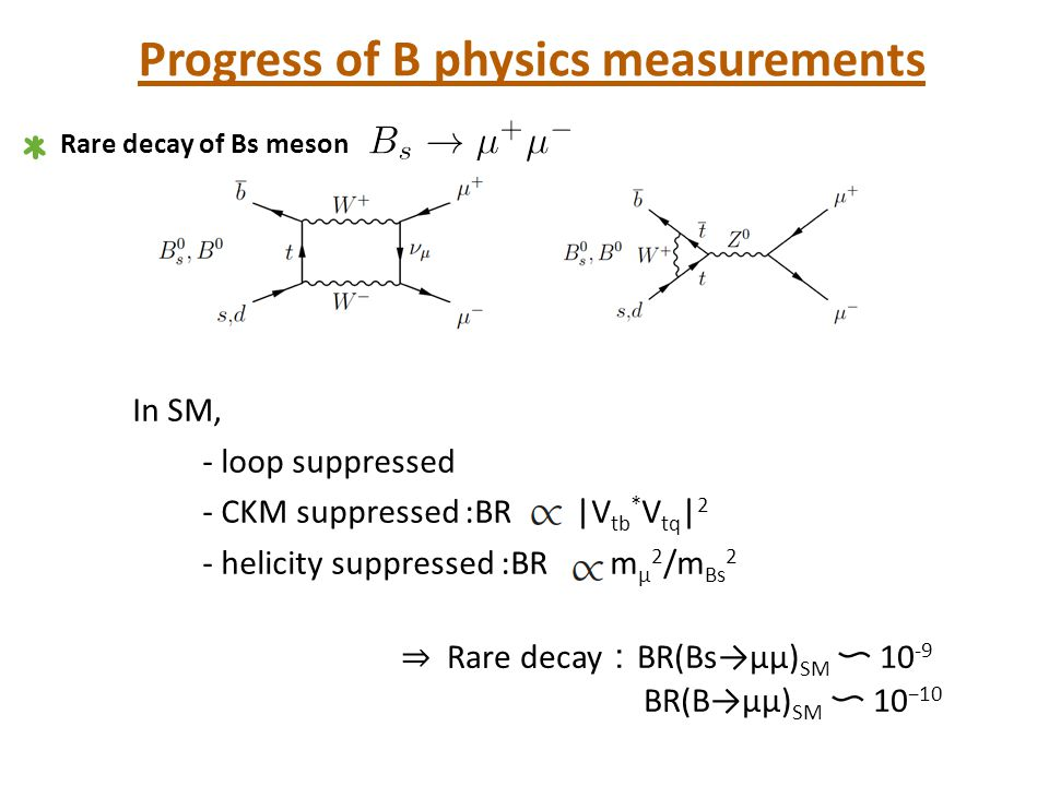 Progress of B physics measurements
