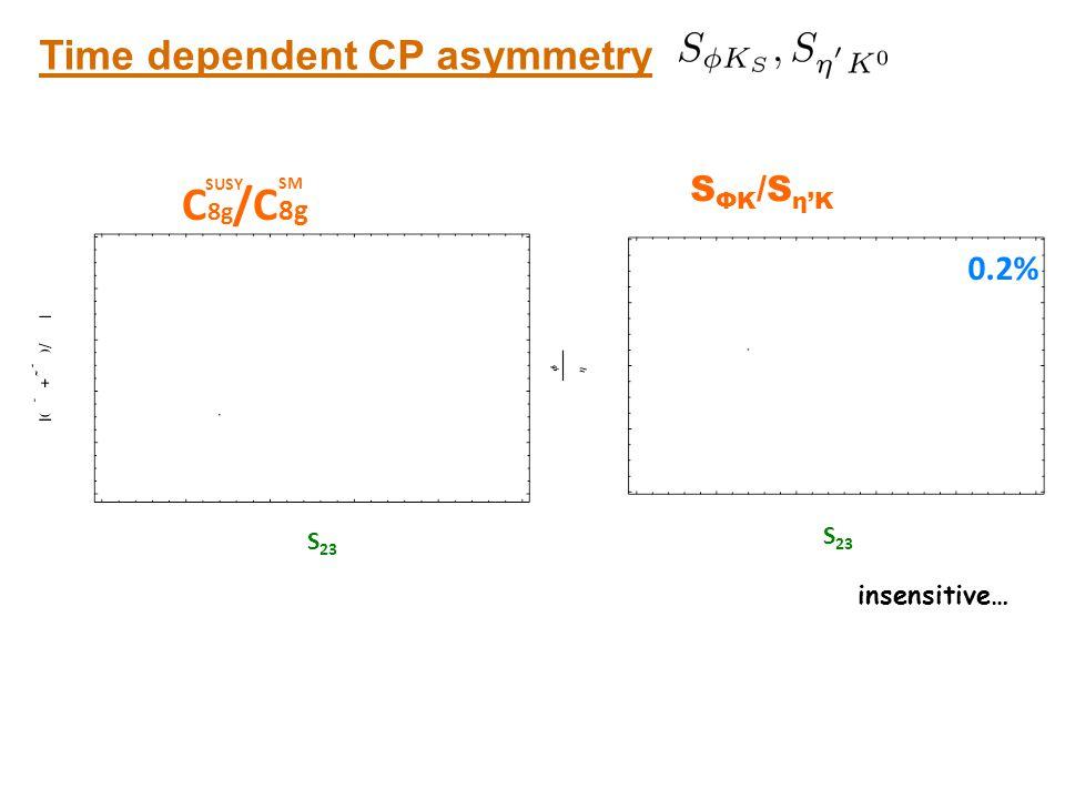 C8g/C8g Time dependent CP asymmetry SηK vs. SΦK SΦK/Sη'K 0.2% S23 S23