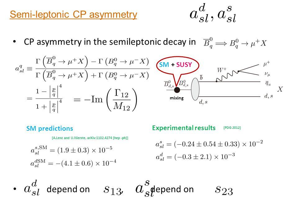 Semi-leptonic CP asymmetry