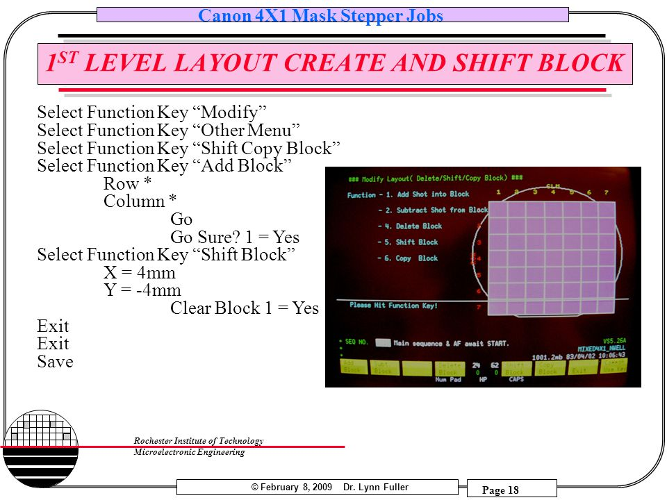 1ST LEVEL LAYOUT CREATE AND SHIFT BLOCK