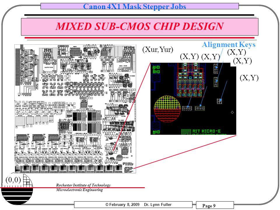 MIXED SUB-CMOS CHIP DESIGN