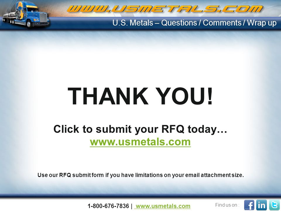 Click to submit your RFQ today…