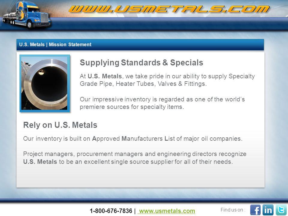 Supplying Standards & Specials