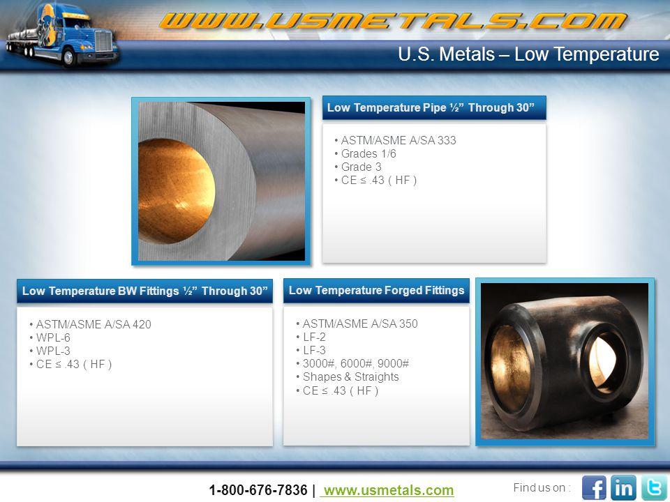 U.S. Metals – Low Temperature
