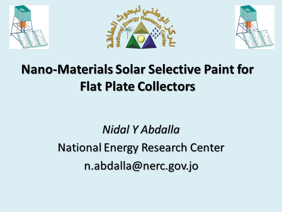 Nano-Materials Solar Selective Paint for Flat Plate Collectors