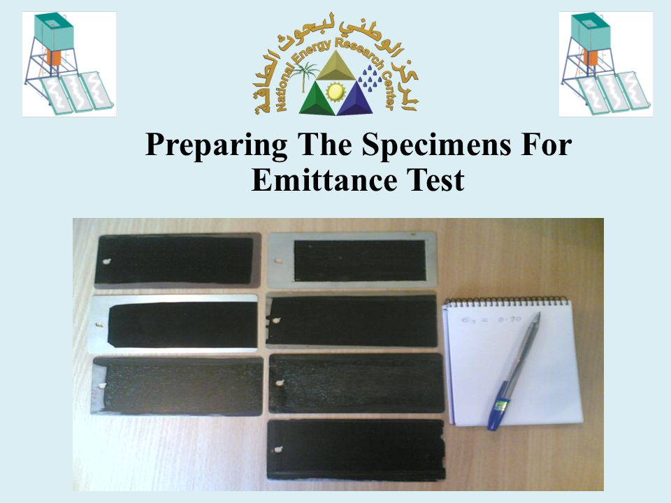Preparing The Specimens For Emittance Test
