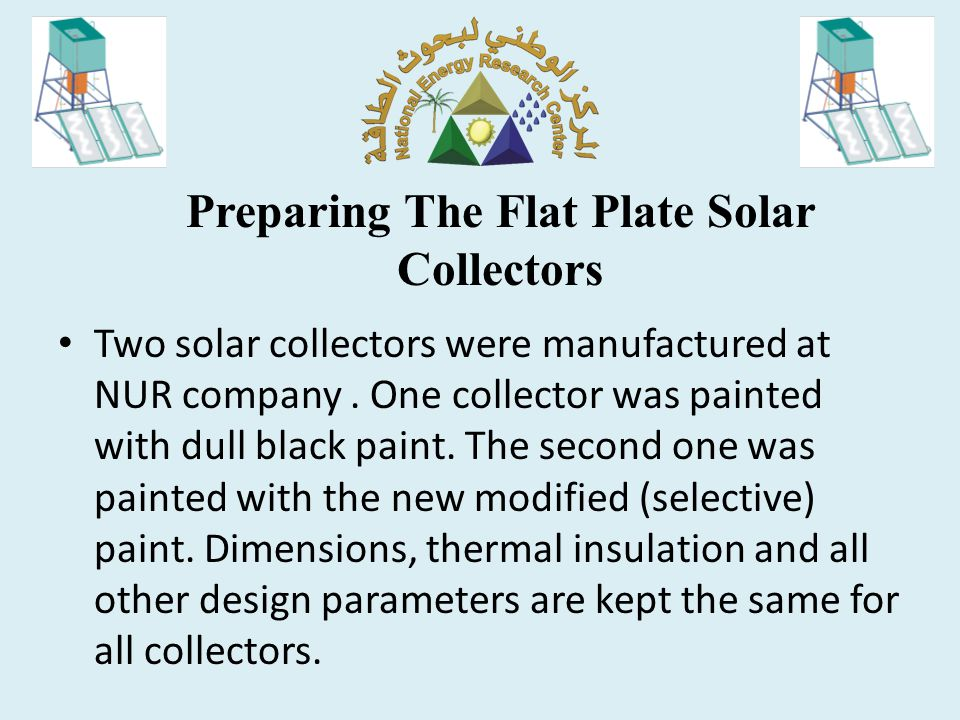 Preparing The Flat Plate Solar Collectors