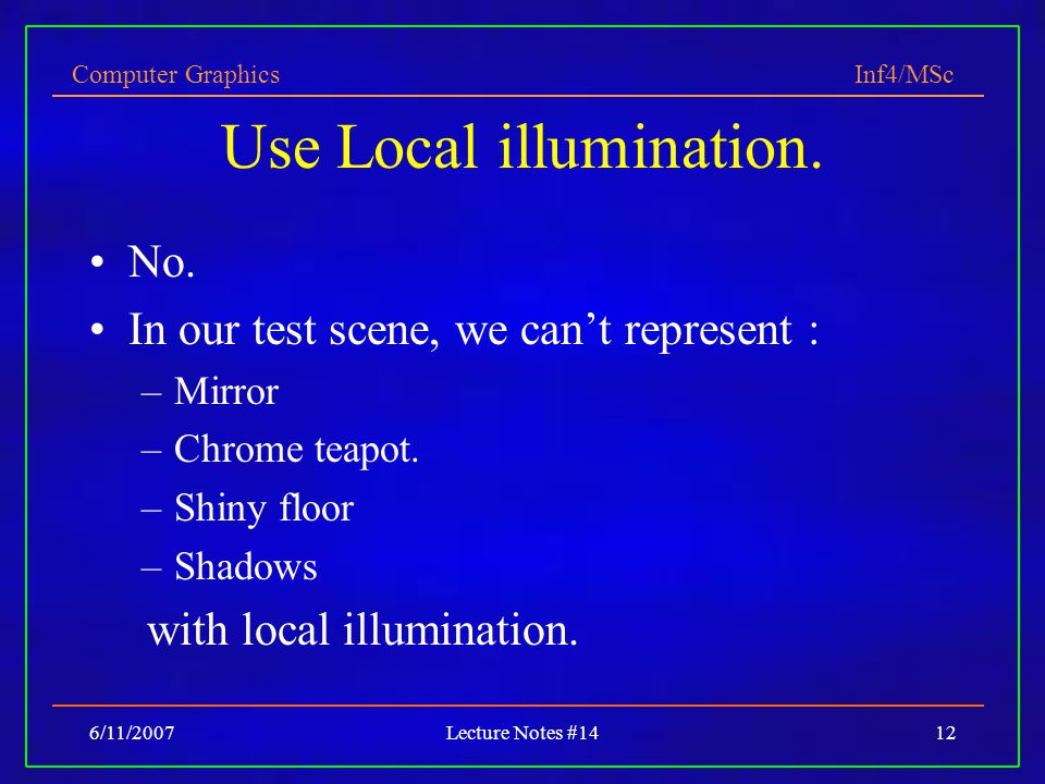 Use Local illumination.