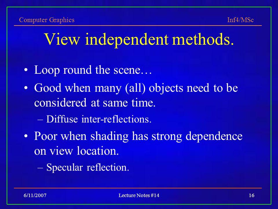 View independent methods.