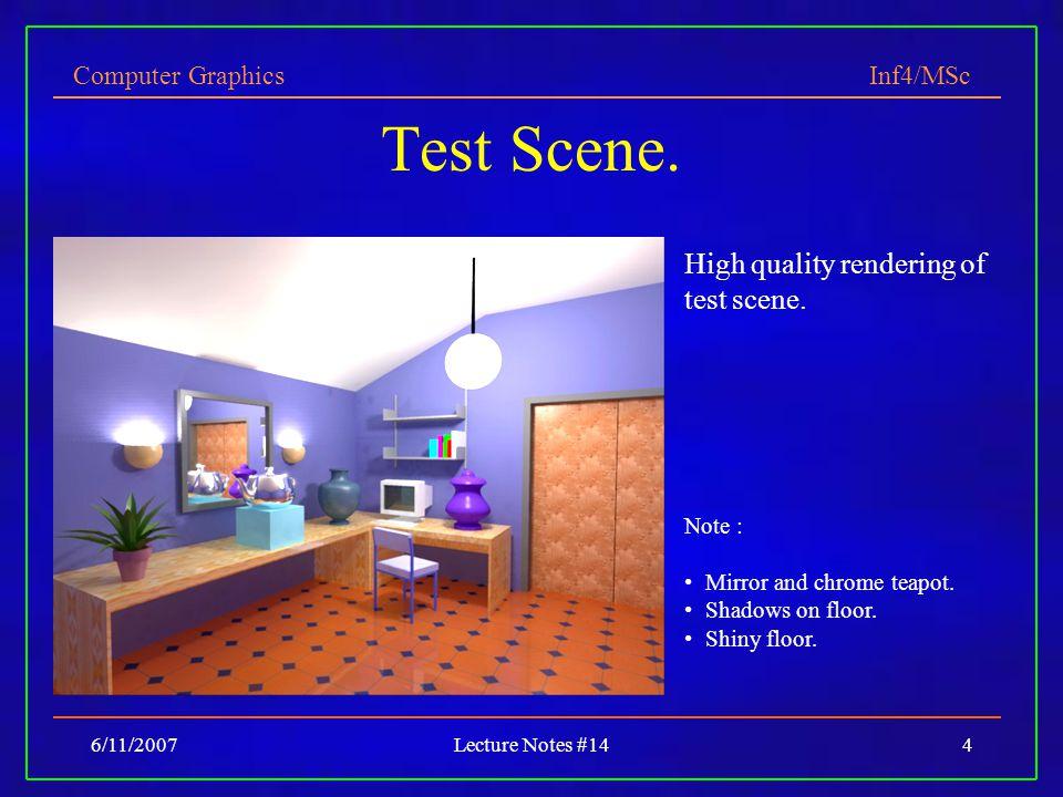 Test Scene. High quality rendering of test scene. Note :