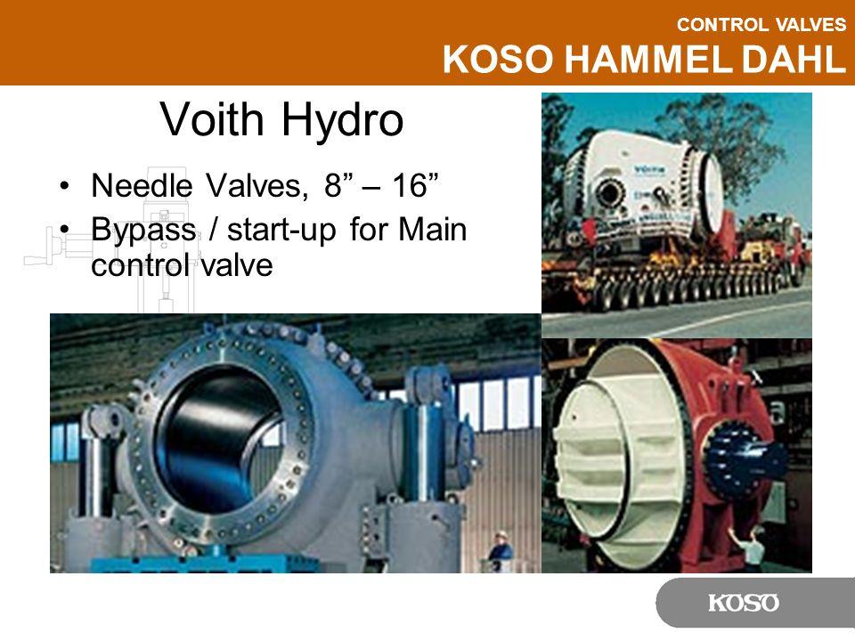 Voith Hydro Needle Valves, 8 – 16