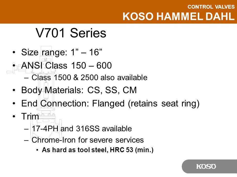V701 Series Size range: 1 – 16 ANSI Class 150 – 600