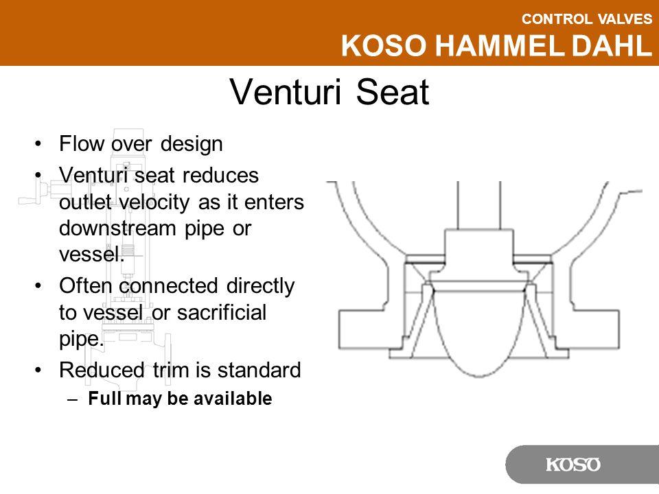 Venturi Seat Flow over design