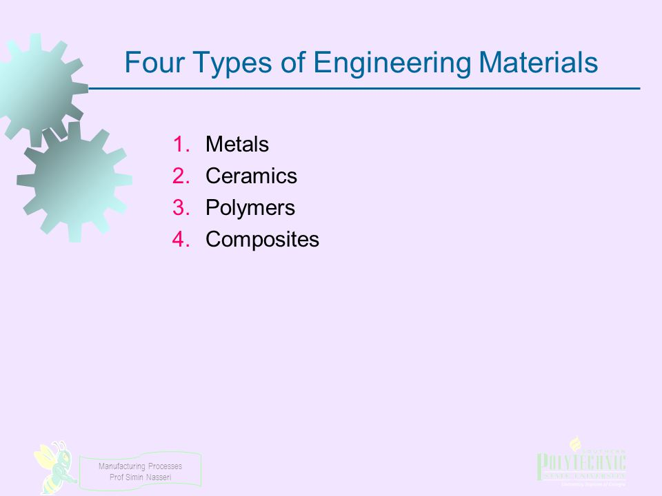 Four Types of Engineering Materials