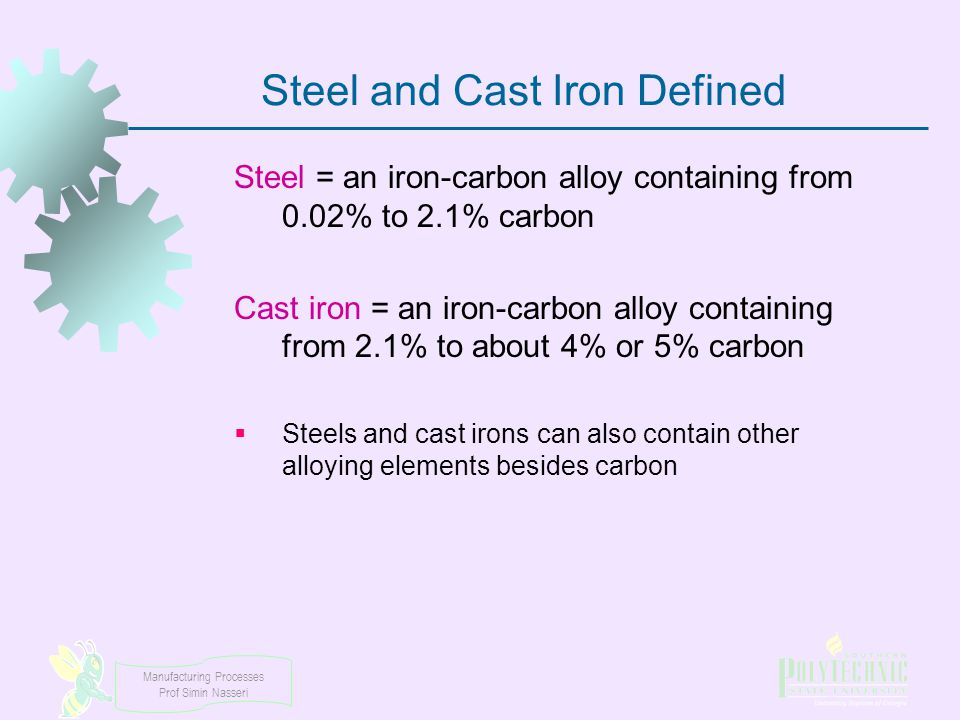 Steel and Cast Iron Defined