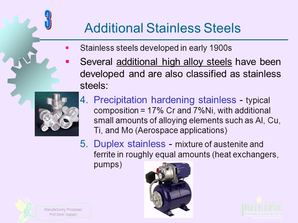 Additional Stainless Steels