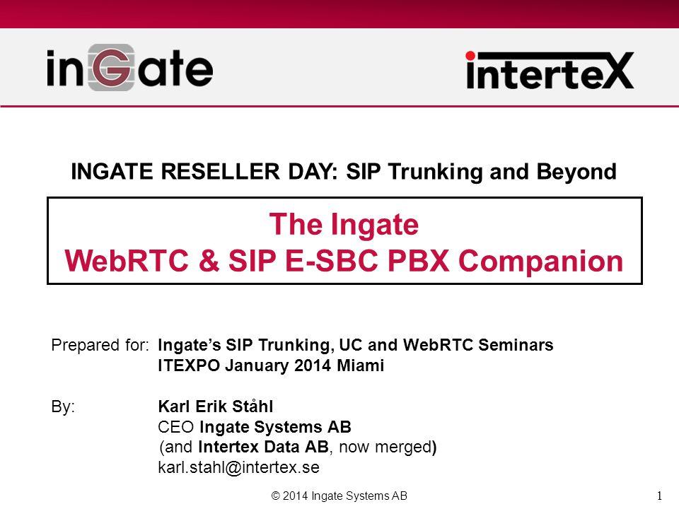 WebRTC & SIP E-SBC PBX Companion