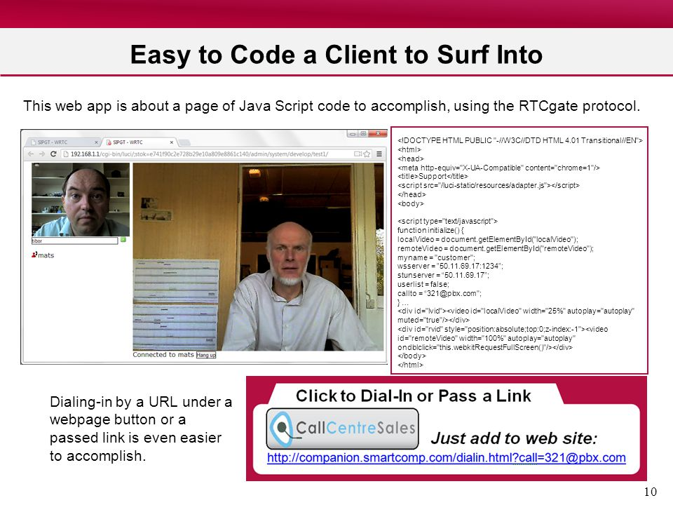 Easy to Code a Client to Surf Into