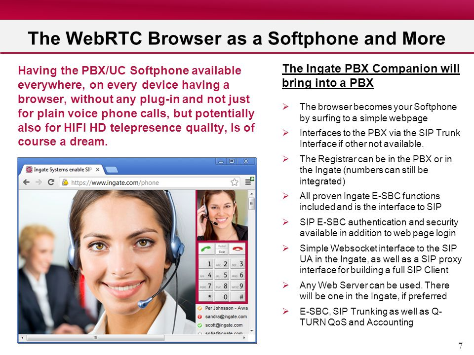 The WebRTC Browser as a Softphone and More