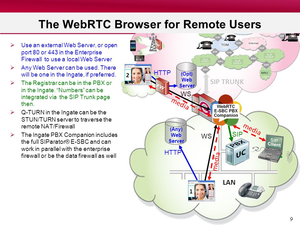 The WebRTC Browser for Remote Users