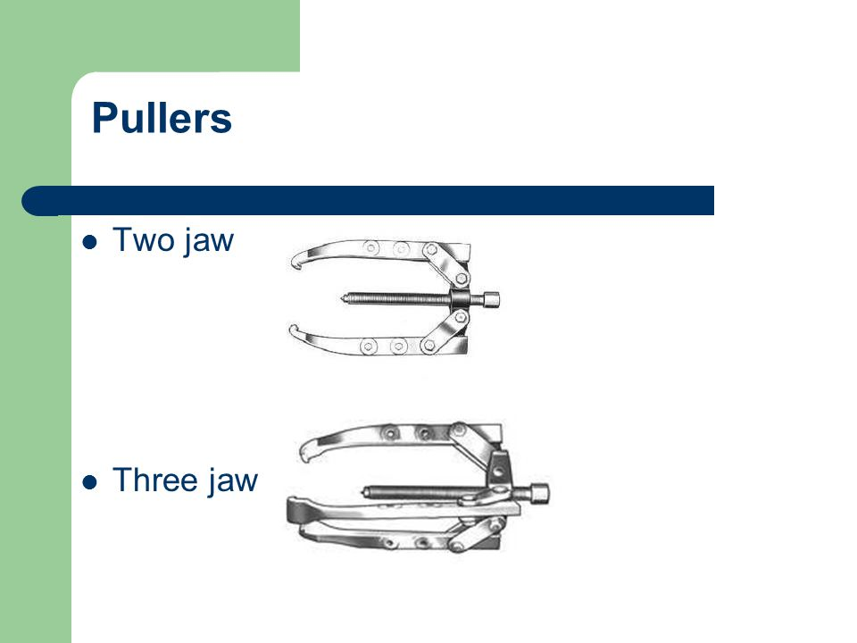 Pullers Two jaw Three jaw