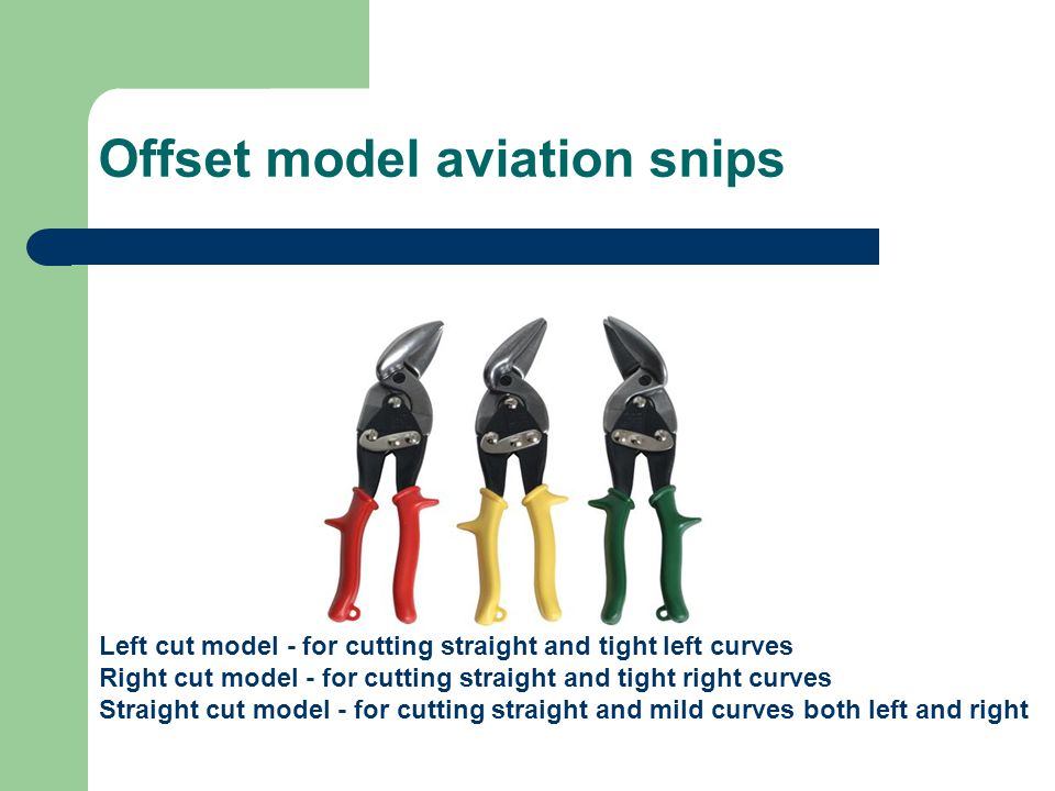 Offset model aviation snips