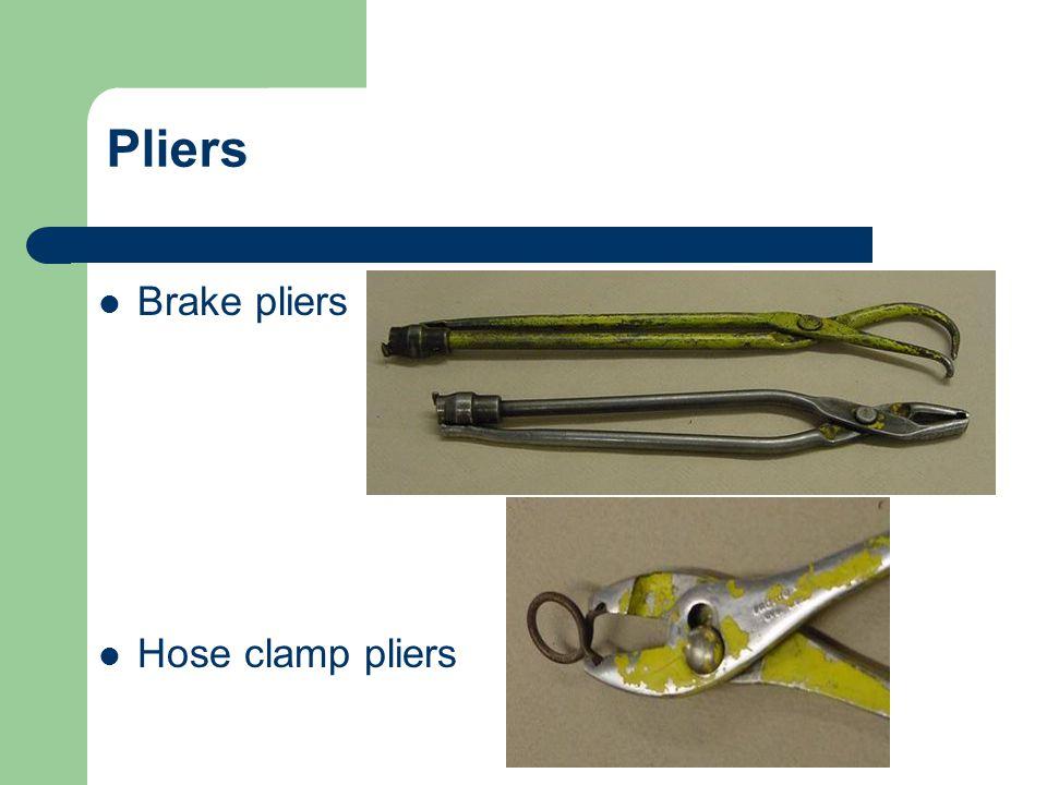 Pliers Brake pliers Hose clamp pliers