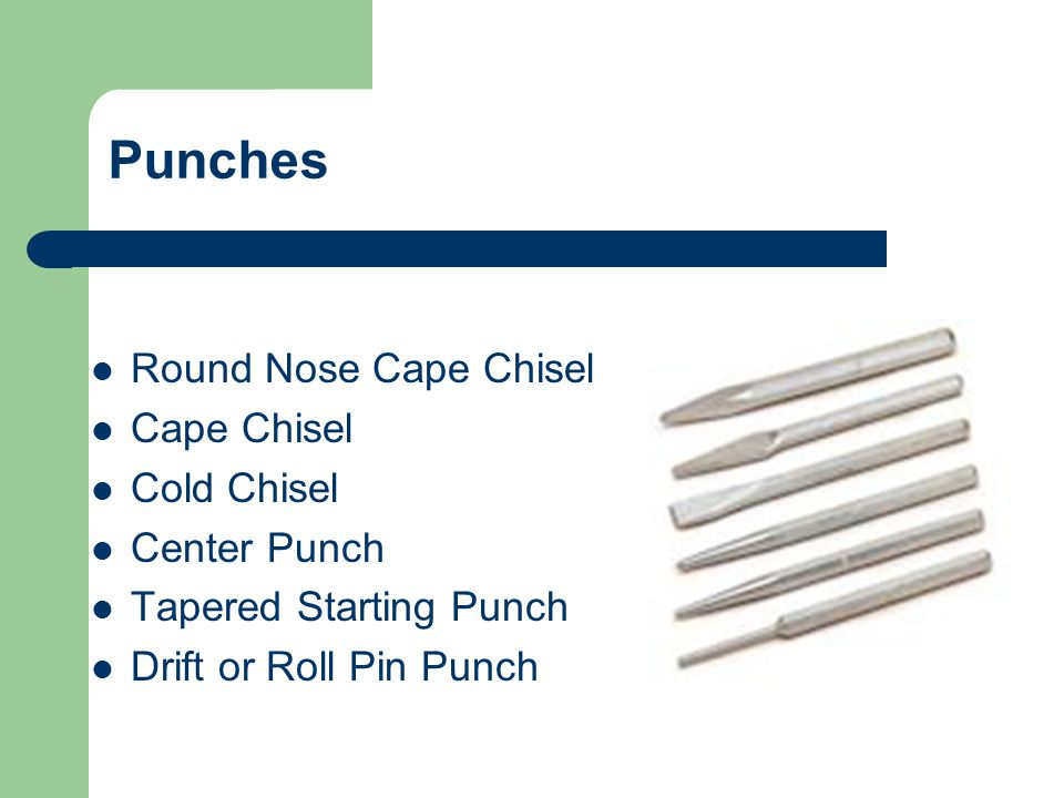 Punches Round Nose Cape Chisel Cape Chisel Cold Chisel Center Punch