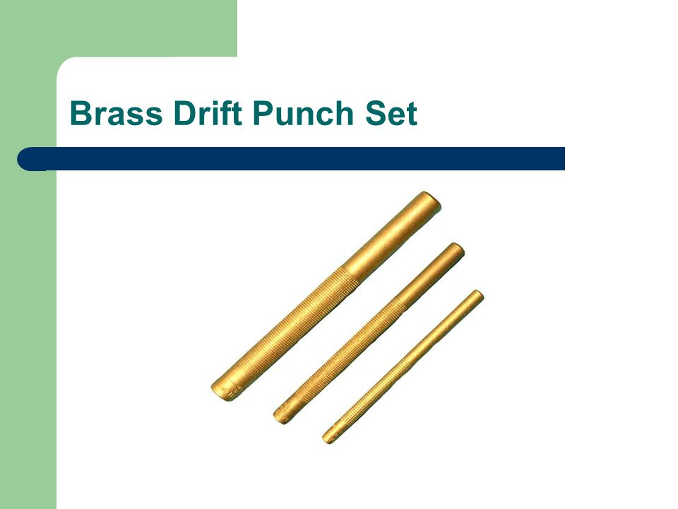 Brass Drift Punch Set