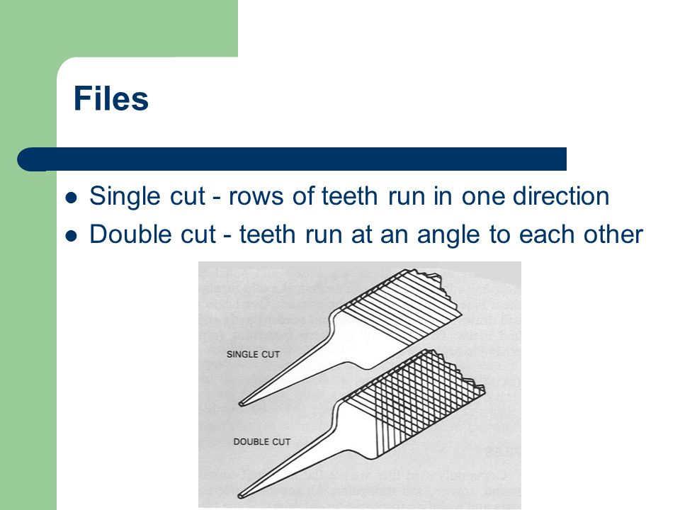 Files Single cut - rows of teeth run in one direction