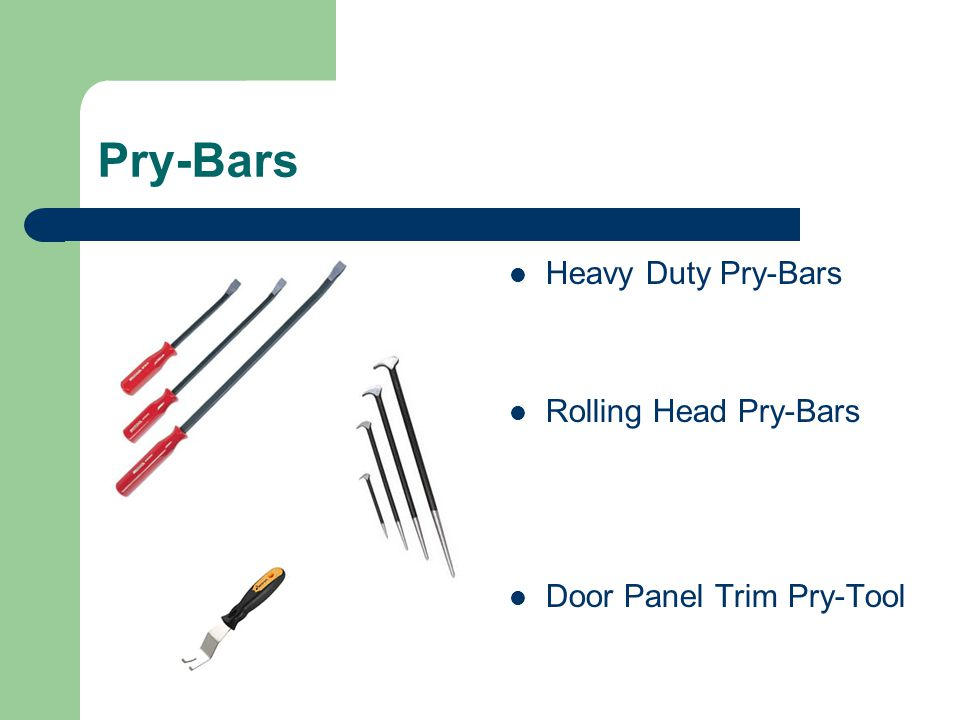 Pry-Bars Heavy Duty Pry-Bars Rolling Head Pry-Bars