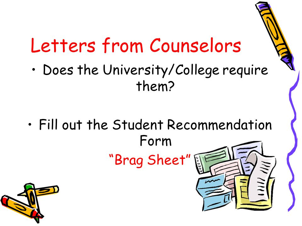 Letters from Counselors