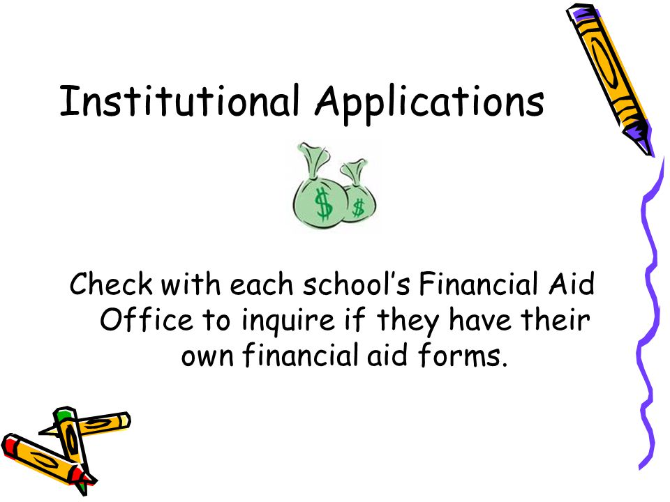 Institutional Applications
