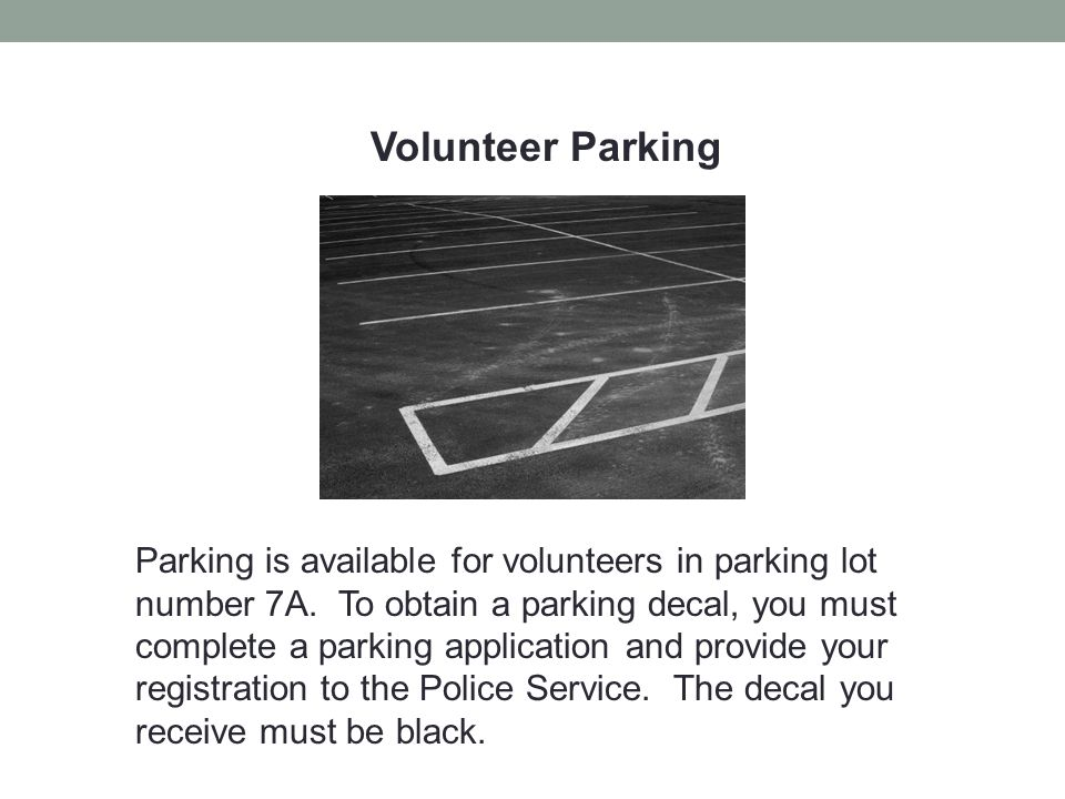 Volunteer Parking