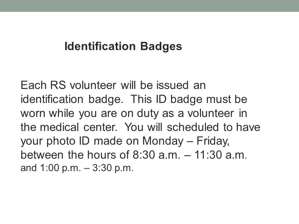 Identification Badges
